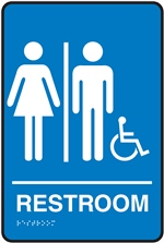 Restroom (Unisex) Braille Sign | HCL Labels