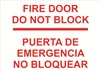 Safety Sign - Fire DoorDo Not Block