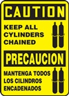 Caution Sign - Keep All Cylinders Chained