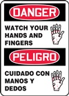 Danger Sign - Watch Your Hands And Fingers