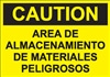 Safety Sign - Storage Of Hazardous Materials (Spanish)