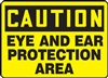 Caution Sign - Ear And Eye Protection Area