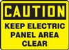 Caution Sign - Keep Electric Panel Area Clear