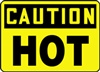 Caution Yellow/Black Sign - Hot