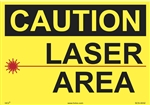 Caution Sign - Laser Area