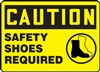 Caution Sign - Safety Shoes Required