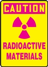 Caution Sign - Radioactive Materials Sign With Graphic
