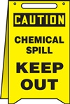 Caution Sign - Chemical Spill Keep Out (Floor Sign)