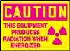 Caution Sign - This Equipment Produces Radiation