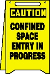 Caution Sign - Confined Space Entry In Progress (Floor Sign)