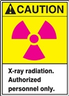 Caution Sign - X-Ray Radiation Label