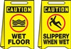 Caution Sign -  Slippery When Wet Label