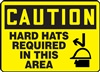 Caution Sign - Hard Hats Required In This Area
