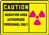 Caution Sign - Radiation Area Label