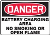 Danger Sign - Battery Charging Area
