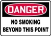 Danger Sign - No Smoking Beyond This Point