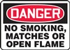 Danger Sign - No Smoking, Matches Or Open Flame