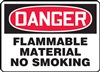 Danger Sign - Flammable Material No Smoking