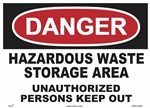 Danger Sign - Hazardous Waste Storage Area