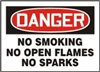 Danger Sign - No Smoking No Open Flames No Sparks