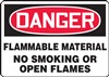 Danger Sign - Flammable Material No Smoking Or Open Flames
