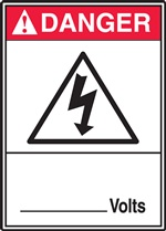 Danger Sign - ___ Volts