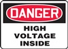Danger Sign - High Voltage Inside