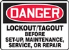 Danger Sign - Lockout/Tagout