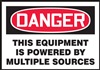 Danger Sign - This Equipment Powered