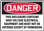 Danger Sign - High Voltage Electrical