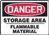 Danger Sign - Storage Area Flammable Material