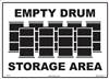 Storage Area Sign - Empty Drums