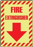Fire Extinguisher - Glow In The Dark Sign