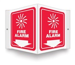 Fire Alarm (Graphic And Down Arrow) Projecting Sign