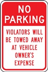 Safety Sign - No Parking Violators Will Be Towed