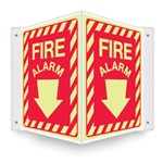 Safety Sign - Fire Alarm (Glow In The Dark) Projecting
