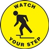 Adhesive Circle Floor Sign - Watch Your Step