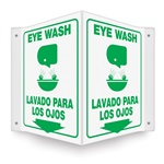 Eye Wash (Bilingual) Projecting Sign