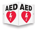 AED (With Graphic) Projecting Sign