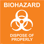 Biohazard Label - Dispose of Properly