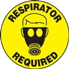 Floor Sign - Respirator Required Decal