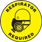 Floor Sign - Respirator Required