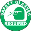 Floor Sign - Safety Glasses Required Decal
