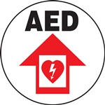 Adhesive Floor Sign - AED