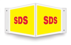 SDS (Safety Data Sheet) Projecting Sign