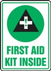 Safety Sign - First Aid Kit Inside