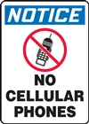 Notice Sign - No Cellular Phones