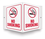 Safety Sign - No Smoking Projecting
