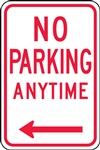 Safety Sign - No Parking Anytime (Left Arrow) | HCL