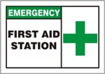Safety Sign - EmergencyFirst Aid Station